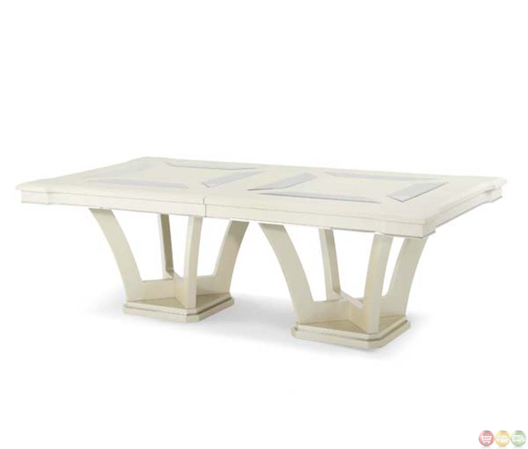 Amini Beverly Blvd Contemporary Rectangular Dining Table By AICO