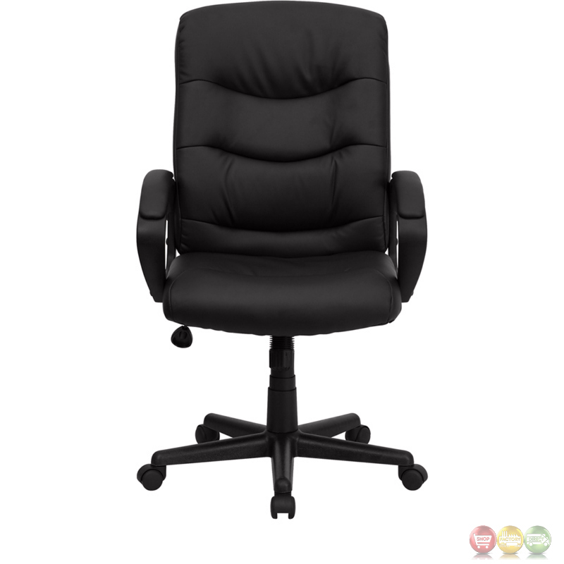 mid back black leather office chair go 977 1 bk lea gg
