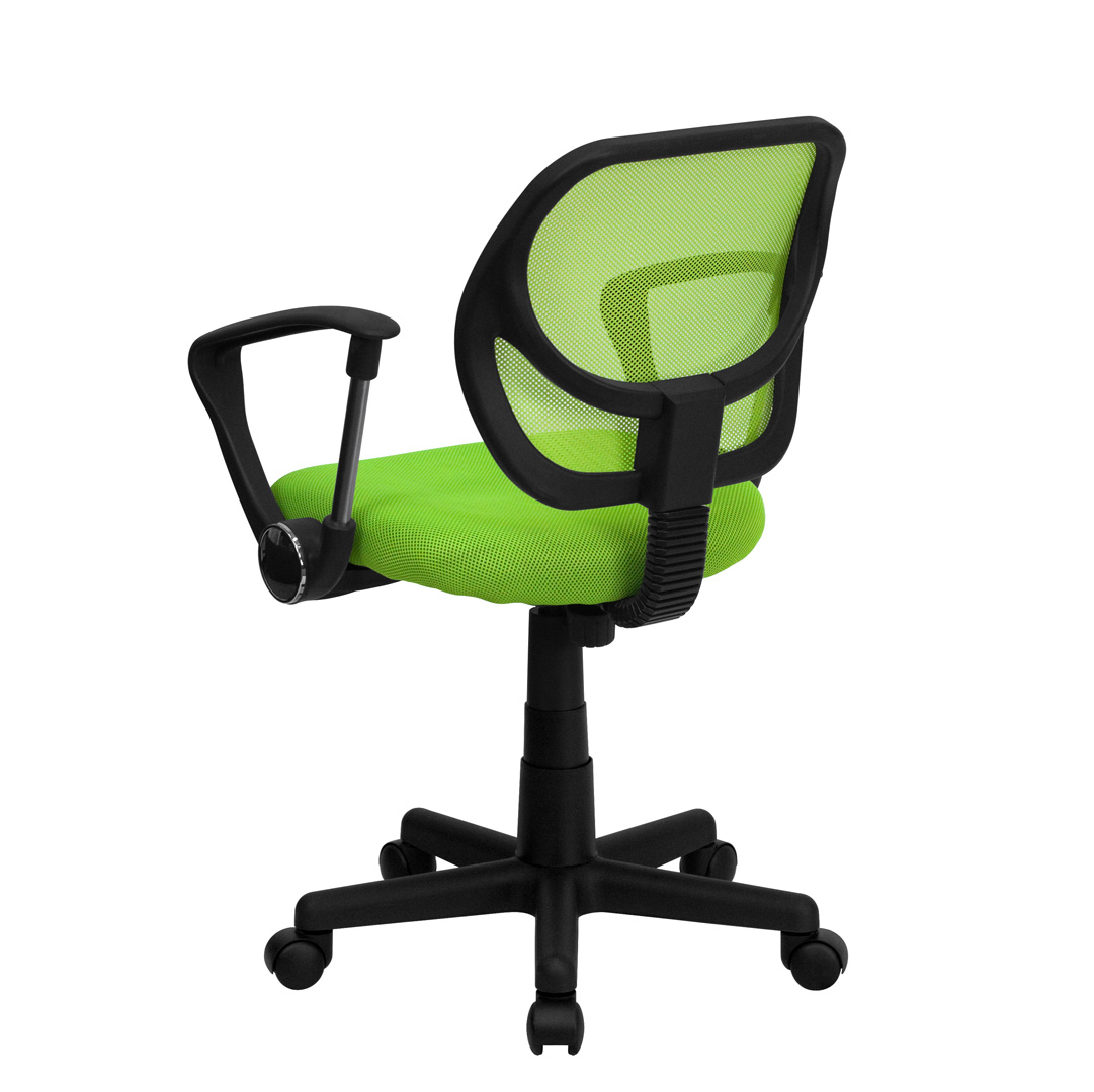 Mid Back Green Mesh Task Chair And Computer Chair With