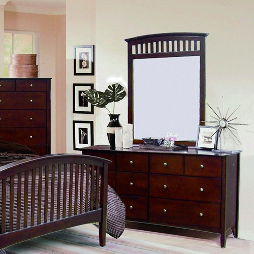 Lawson Mission Style Cappuccino Finish Bedroom Set|Free ...