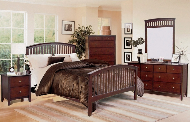 lawson mission style cappuccino finish bedroom setfree shipping,