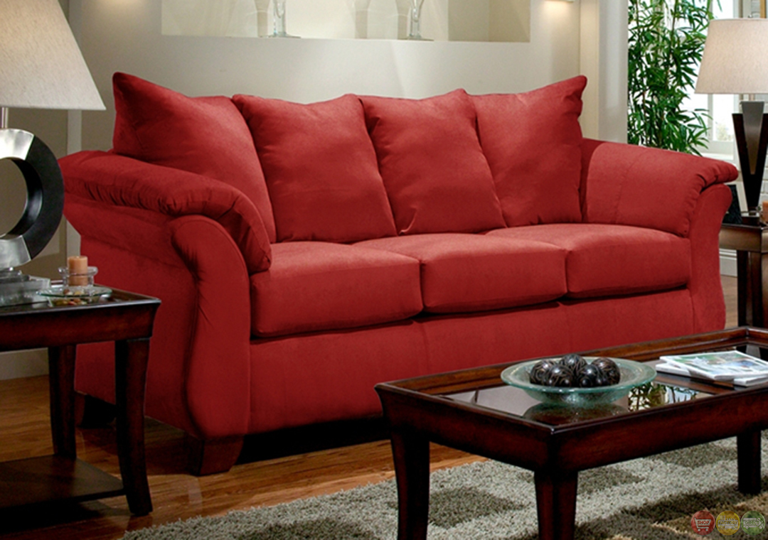 Red Living Room Set Zion Star