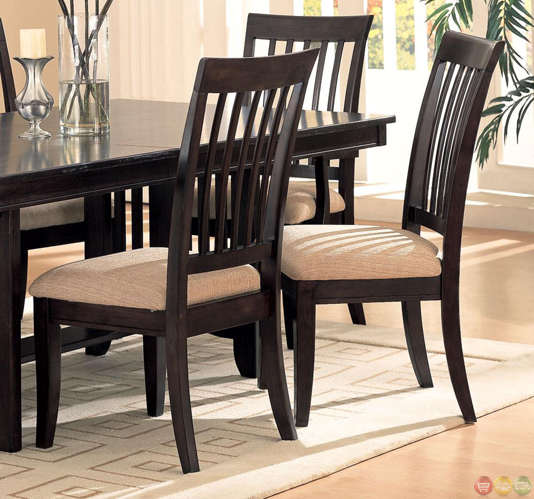 Room And Board Dining Chairs: Monaco Cappuccino Finish Casual Dining Room Set