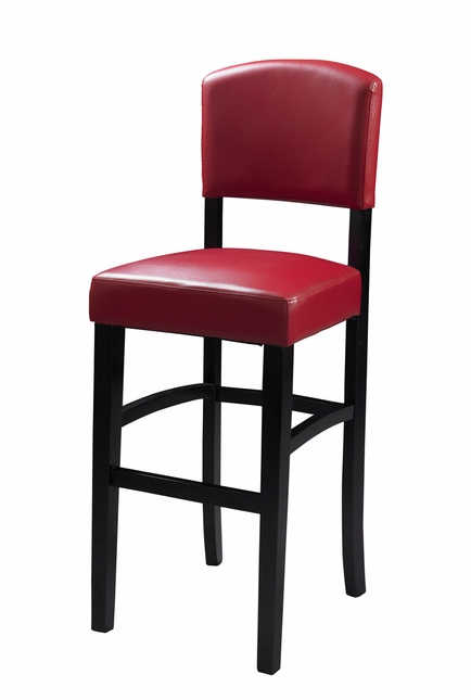 Monaco Oxblood Red Counter Height Bar Stool