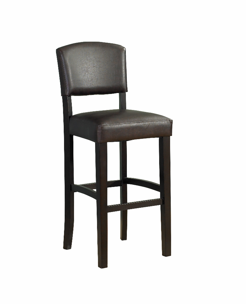 Monaco Espresso Finish Wooden Bar Stool