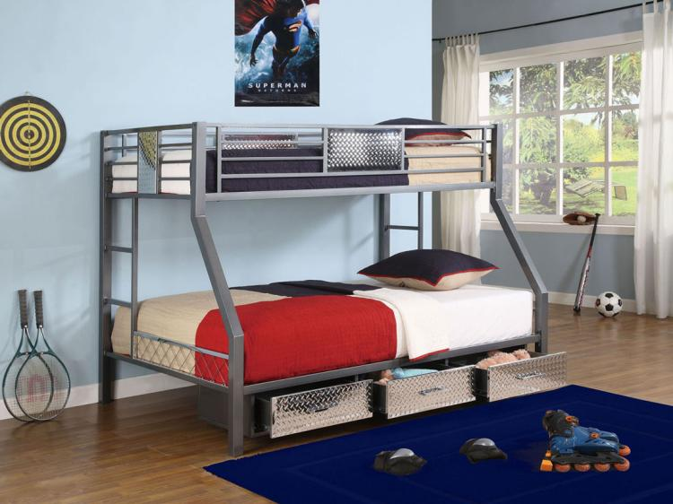 monster bedroom twin full bunk bed with three drawers from powell free