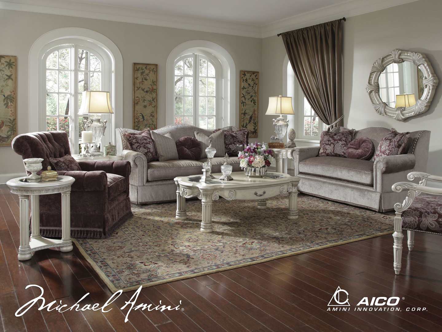 Monte carlo ii silver pearl finish formal luxury living room set jpg