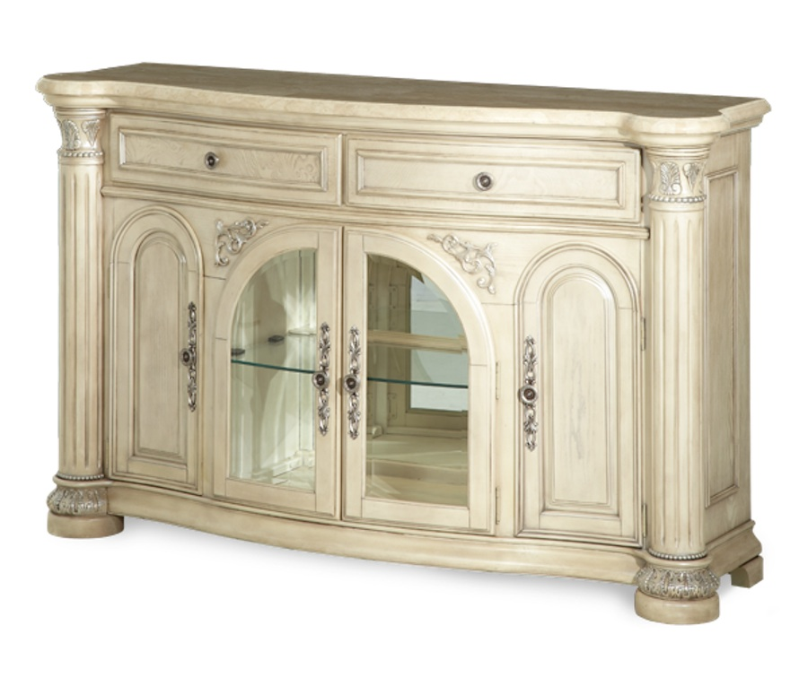 amini monte carlo silver pearl ii traditional dining room set by aico