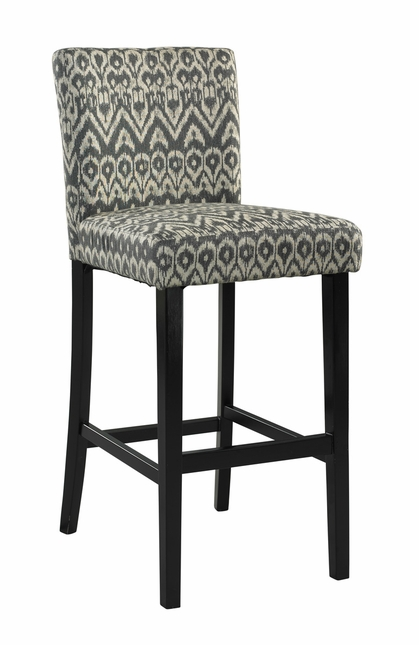 Morocco Black Finish Sounter Height Bar Stool