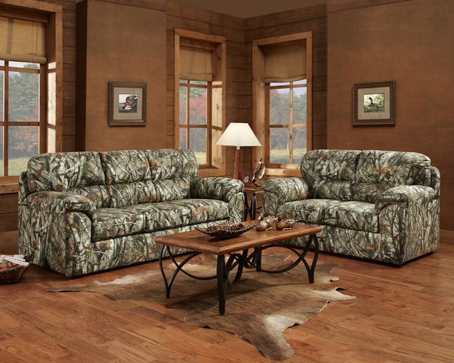 mossy oak camouflage sofa loveseat duck hunting living