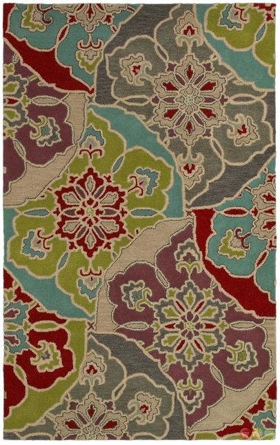 Rizzy Rugs Multi Contemporary Hand Tufted Area Rug Pandora PR8145