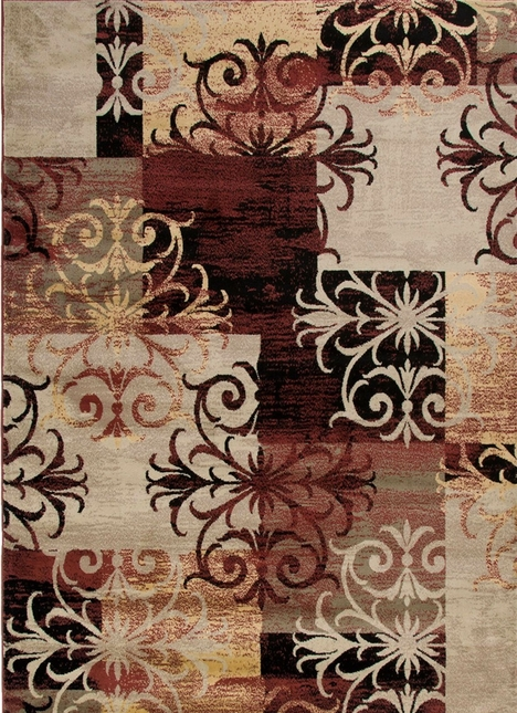 Rizzy Rugs Multi Traditional Power Loomed Area Rug Bayside BS3592