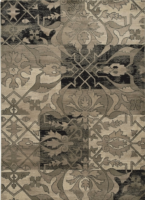 Rizzy Rugs Multi Traditional Power Loomed Area Rug Bayside BS3651