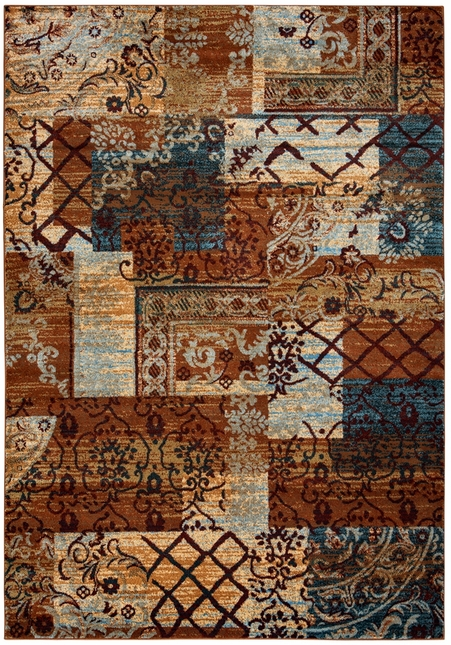Rizzy Rugs Multi Traditional Power Loomed Area Rug Bellevue BV3698