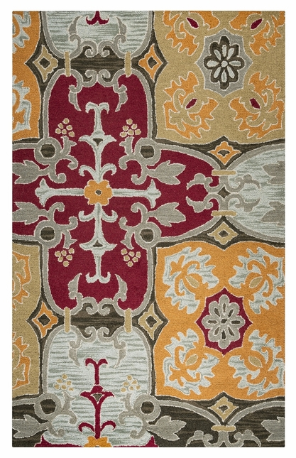 Rizzy Rugs Multi Transitional Hand Tufted Area Rug Country CT1015