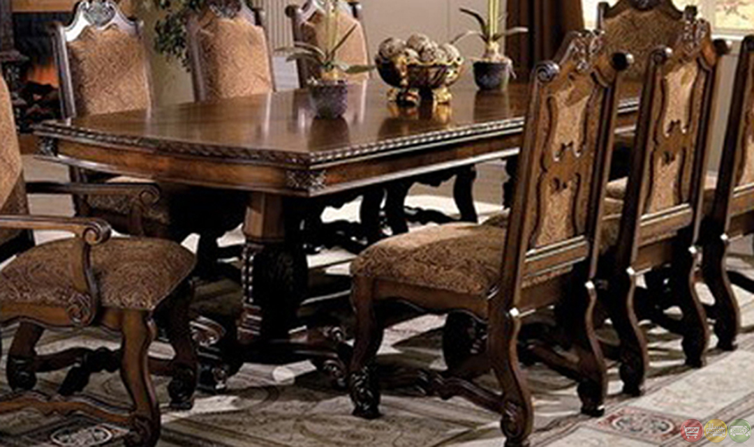 Neo Renaissance Formal Dining Set with Extension Leaves