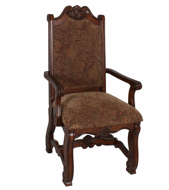 Traditional Formal Dining Room Sets: Neo Renaissance Traditional Formal Dining Upholstered Arm