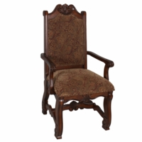 Neo Renaissance Traditional Formal Dining Upholstered Arm Chair