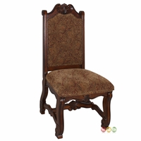 Neo Renaissance Traditional Formal Dining Upholstered Side Chair (Set of 2)