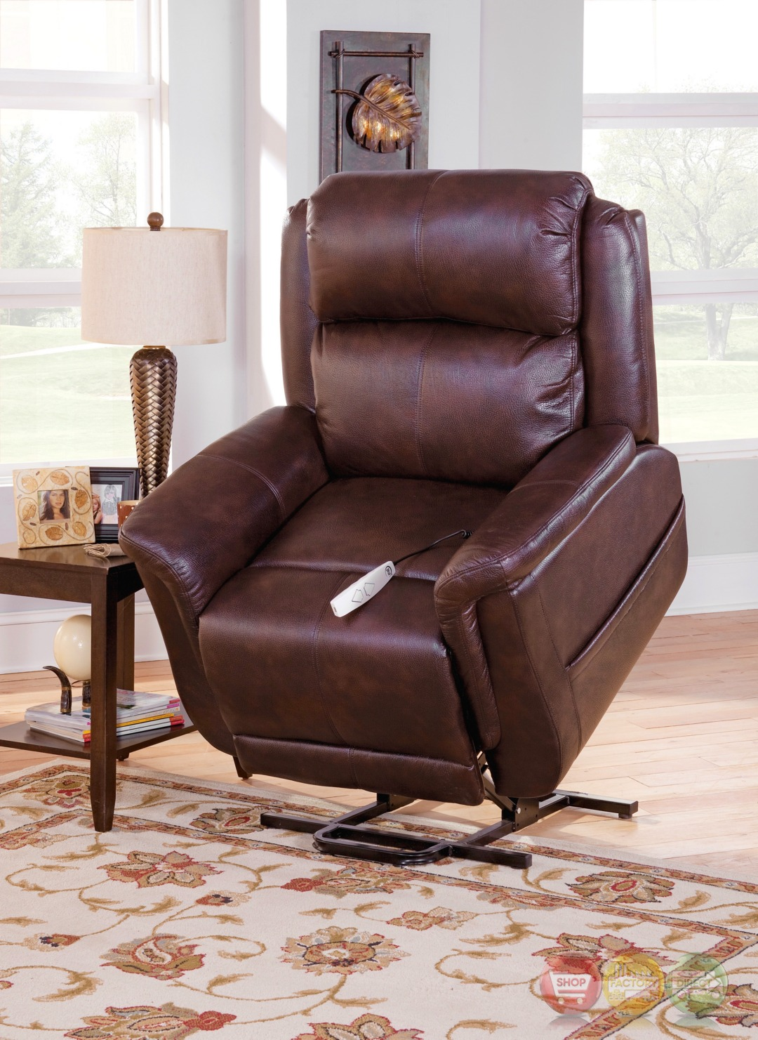 norwhich brown wall hugger reclining lift chair with usb