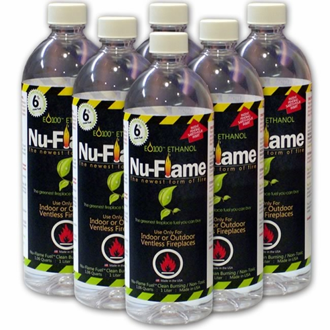 Nu-Flame Ethanol Eco Friendly Liquid Fuel 6 Pack