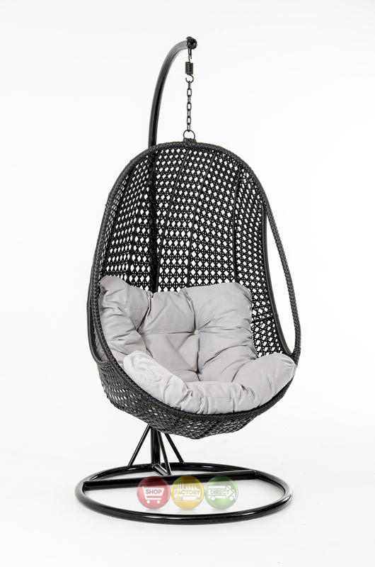 oahu outdoor hanging pod chair black rattan shop factory