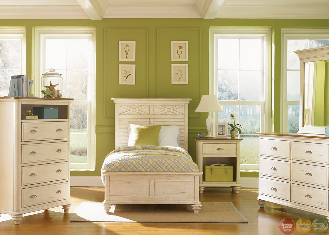 Ocean Isle Cottage Transitional Youth Panel Bedroom Set