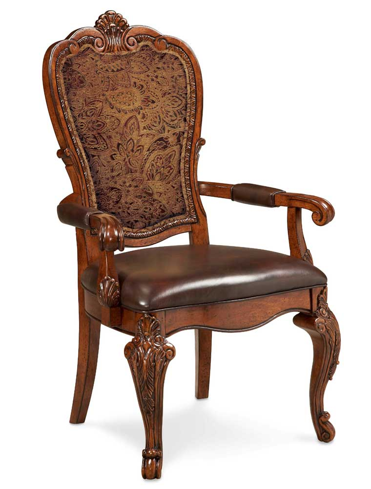 Old world formal dining room furniture pedestal table - Elegant dining room chairs ...