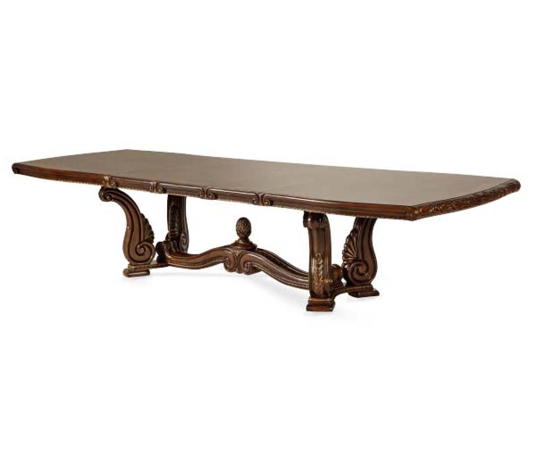 Amini Oppulente Elaborately Carved Rectangle Dining Table By AICO