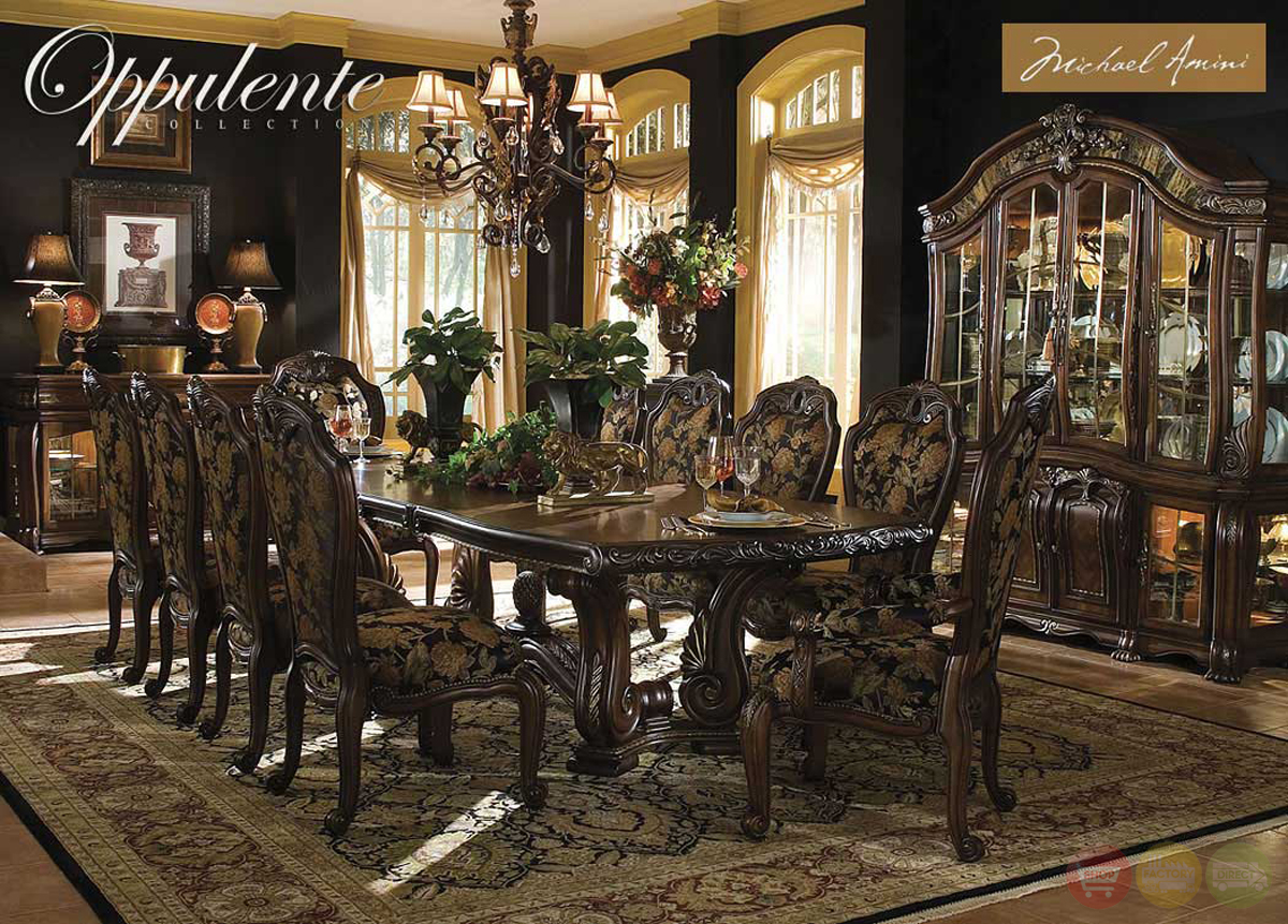 Michael Amini Oppulente Luxury Formal Dining Room Set by AICO : oppulente luxury formal dining room set aico michael amini 10 from www.shopfactorydirect.com size 1200 x 861 jpeg 911kB