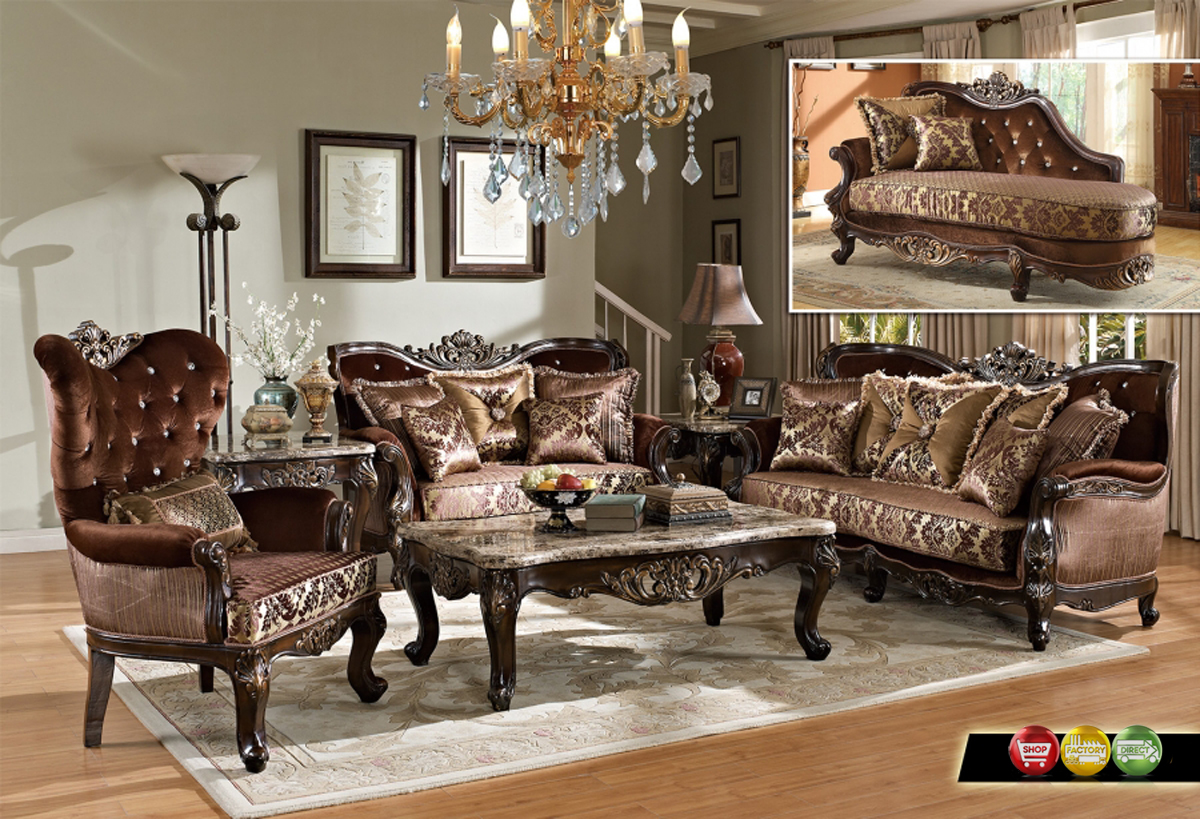 Opulent Traditional Luxury Formal Sofa Set