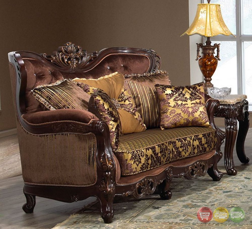 Traditional: Opulent Traditional Luxury Formal Sofa Set
