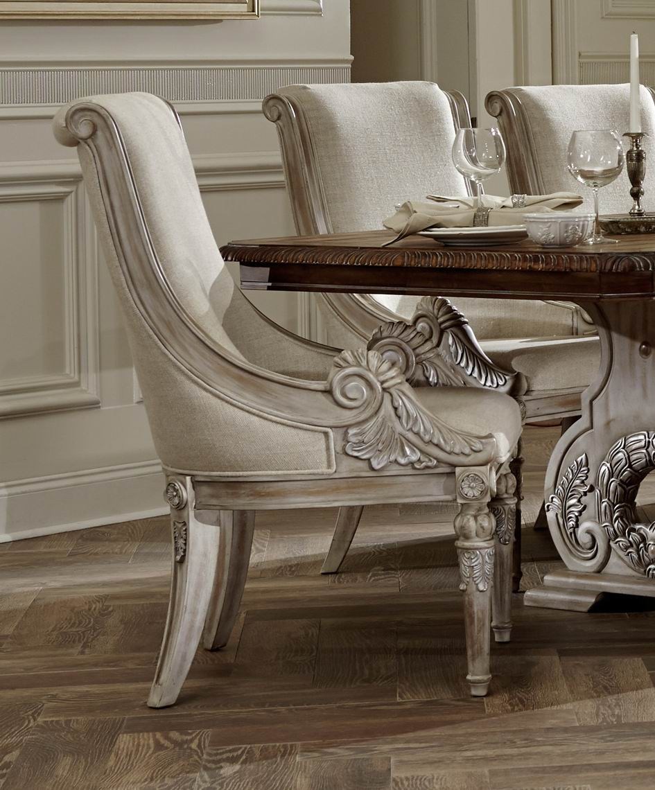 Traditional Dining Room Set: Orleans II White Wash Traditional Formal Dining Room