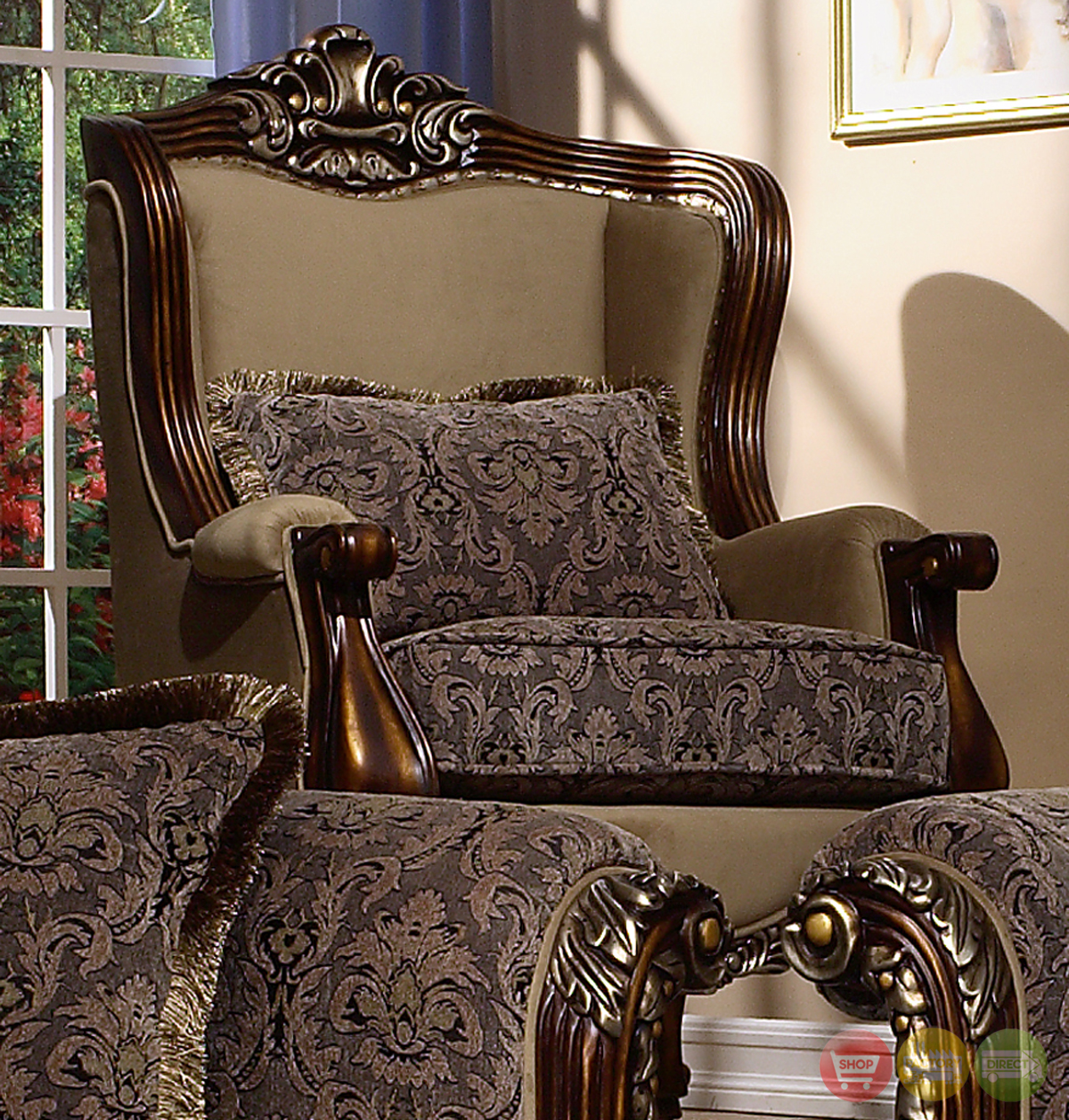 Traditional Sofas Living Room Furniture: Victorian Inspired Formal Living Room Sets