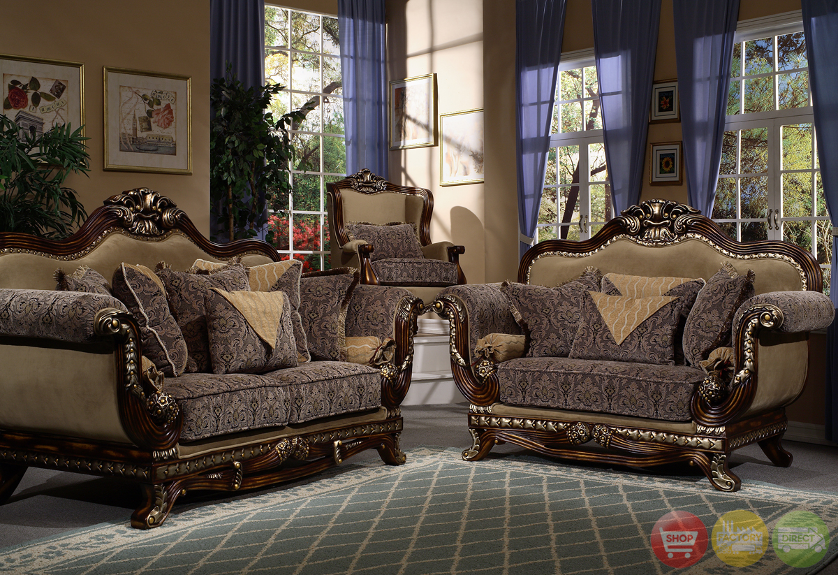 ornate traditional style living room furniture sofa love seat hd 23