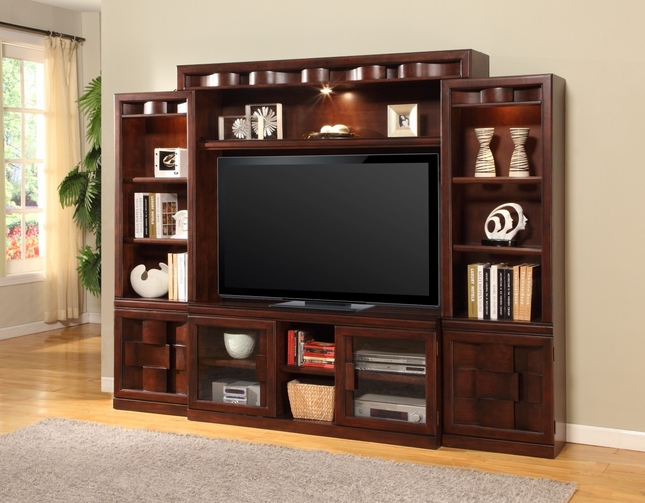 Oslo Estate Wall Unit Large TV Stand Entertainment Center Media OSL#101-4