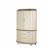 Overture Glamour Cristal Beige Two-door Chest With Crystal Accents