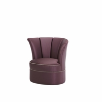 Overture Glamour Purple High Back Swivel Tub Chair Left Arm Facing