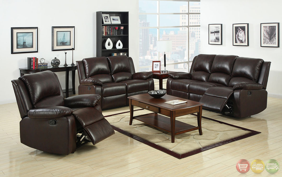 Oxford Traditional Rustic Dark Brown Living Room Set with