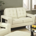 Paige Contemporary Sofa Set in Cream Finish, Coaster