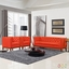 Panache Mid-century Modern 3pc Upholstered Sofa & Armchairs Set, Atomic Red