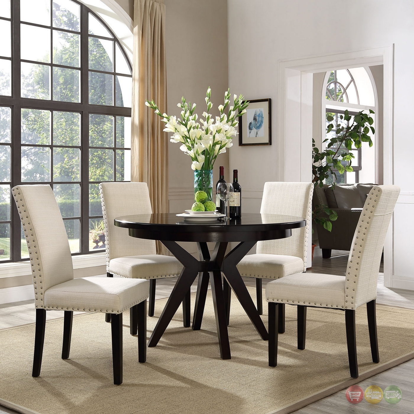 Upholster Dining Room Chairs: Parcel Modern Upholstered Dining Side Chair With Nail Head