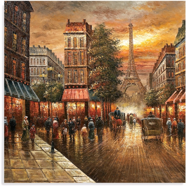 Paris Nights Old World Canvas Wrap 7200-662EC