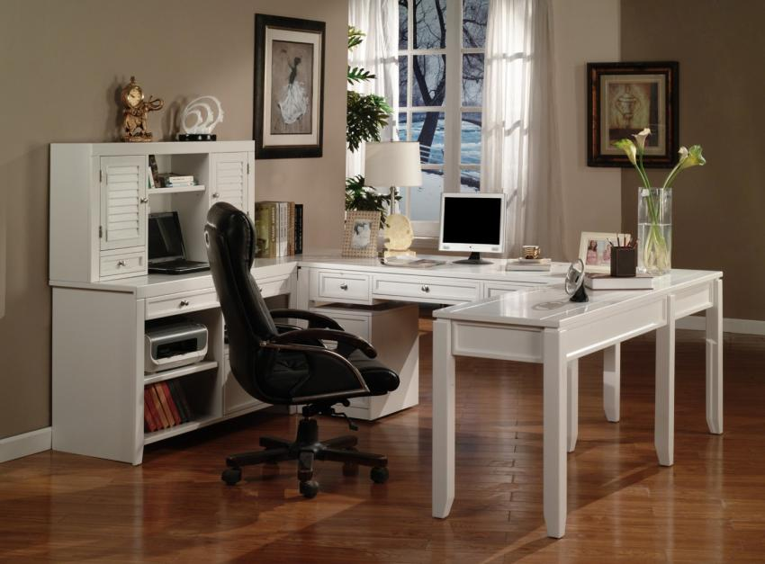Superb White Office Furniture Collections #3: White Home Office Furniture