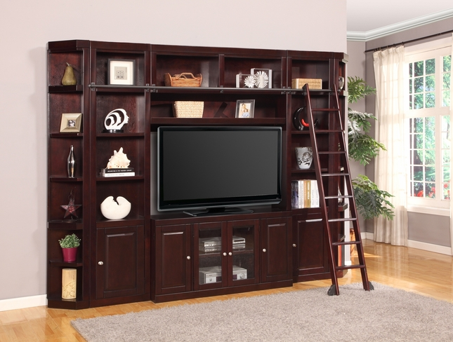"Parker House Boston Merlot Entertainment TV Wall Unit With 56"" Console"