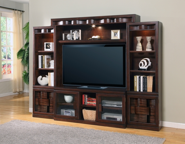 "Oslo Contemporary 60"" Entertainment Wall Unit With Espresso Finish"