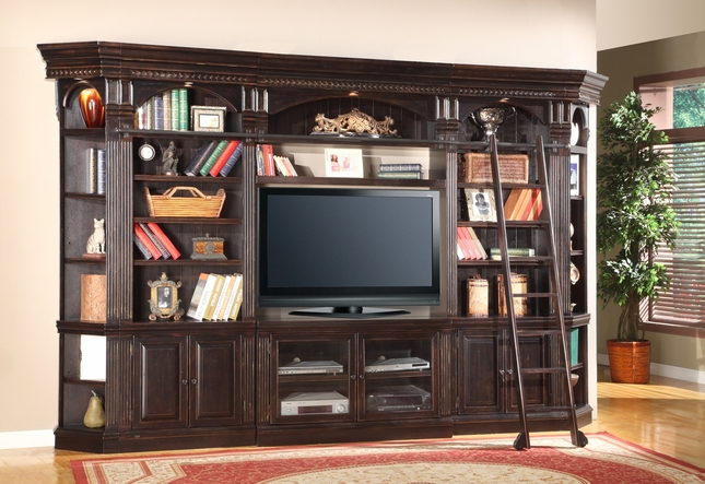 "Venezia Italian 50"" TV Console Entertainment Wall Unit w/ Vintage Finish"