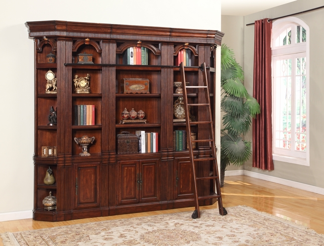 Parker House Welington Antique Library Bookcase Wall WEL-Pack-H
