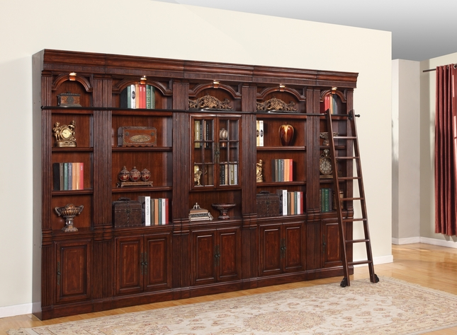 Parker House Welington Library Bookcase Inset 6 Pc Wall WEL-Pack-G