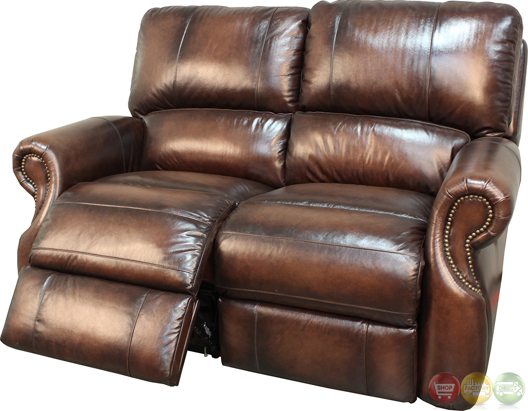 Parker Living Hawthorne Brown Leather Power Reclining Sofa